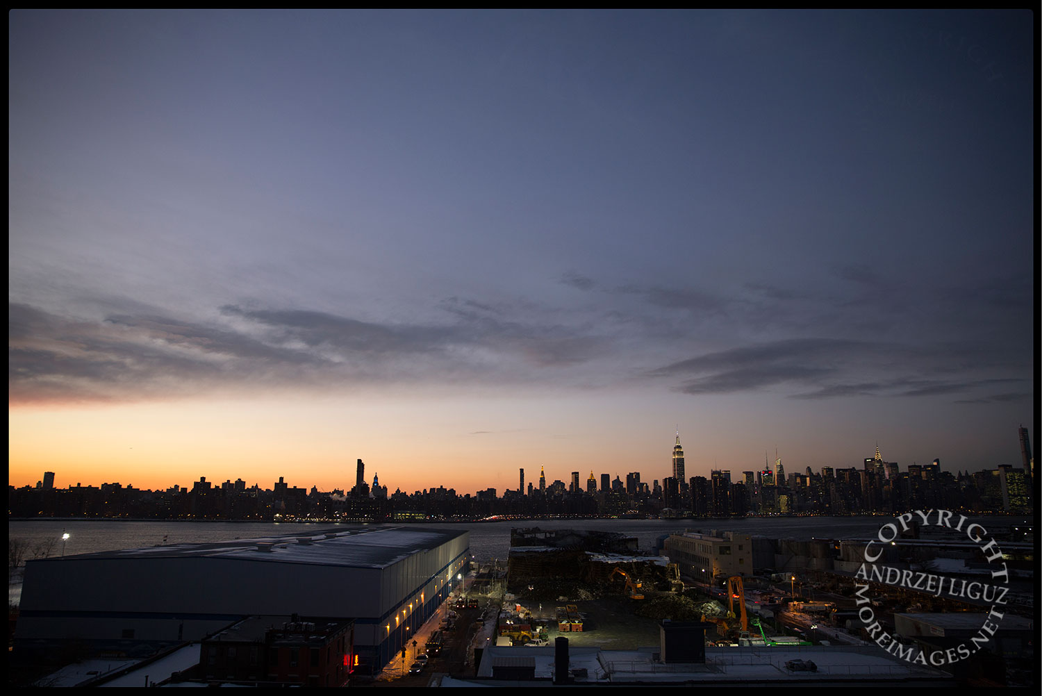 Manhattan from the Wythe Hotel in Brooklyn.