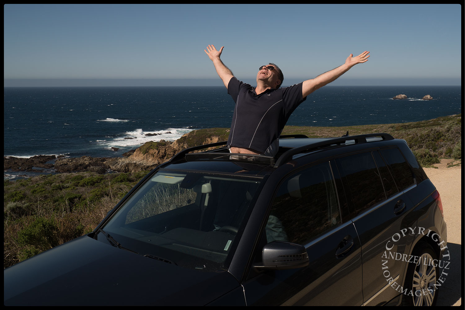 Alan Miller on the road in California