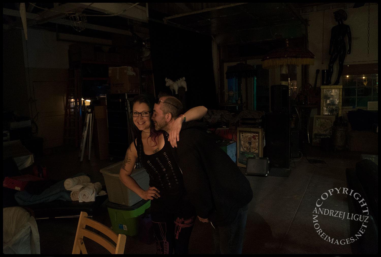 Maurizio & Blare, Scotty's warehouse, Petaluma, CA 2015-03-05